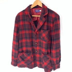 PENDLETON buffalo plaid wool vint 50s/60s Jacket